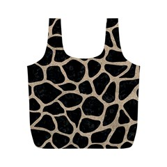 Skin1 Black Marble & Sand Full Print Recycle Bags (m)