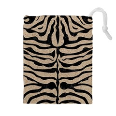 Skin2 Black Marble & Sand Drawstring Pouches (extra Large)