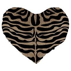 Skin2 Black Marble & Sand (r) Large 19  Premium Heart Shape Cushions