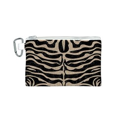 Skin2 Black Marble & Sand (r) Canvas Cosmetic Bag (s)