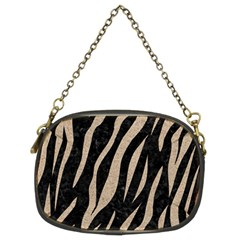 Skin3 Black Marble & Sand (r) Chain Purses (two Sides)