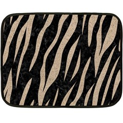 Skin3 Black Marble & Sand (r) Double Sided Fleece Blanket (mini)