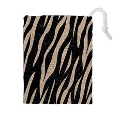 Skin3 Black Marble & Sand (r) Drawstring Pouches (extra Large)
