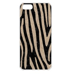Skin4 Black Marble & Sand Apple Iphone 5 Seamless Case (white)