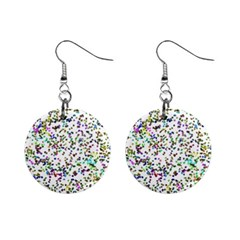 Paint On A White Background                                  1  Button Earrings