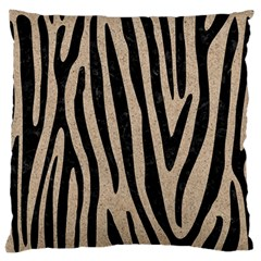Skin4 Black Marble & Sand (r) Large Flano Cushion Case (two Sides)