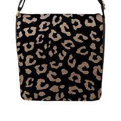 Skin5 Black Marble & Sand Flap Messenger Bag (l)