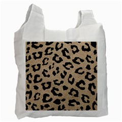 Skin5 Black Marble & Sand (r) Recycle Bag (one Side)