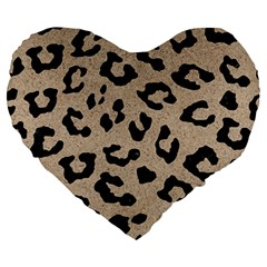 Skin5 Black Marble & Sand (r) Large 19  Premium Heart Shape Cushions