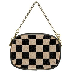 Square1 Black Marble & Sand Chain Purses (two Sides)