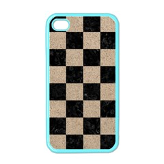 Square1 Black Marble & Sand Apple Iphone 4 Case (color)