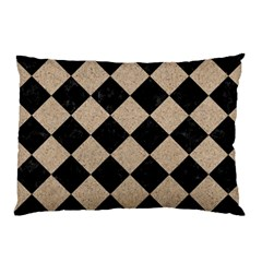Square2 Black Marble & Sand Pillow Case (two Sides)