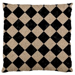 Square2 Black Marble & Sand Large Cushion Case (two Sides)