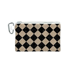 Square2 Black Marble & Sand Canvas Cosmetic Bag (s)