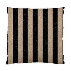 Stripes1 Black Marble & Sand Standard Cushion Case (two Sides)