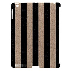 Stripes1 Black Marble & Sand Apple Ipad 3/4 Hardshell Case (compatible With Smart Cover)