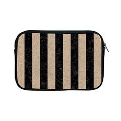 Stripes1 Black Marble & Sand Apple Ipad Mini Zipper Cases