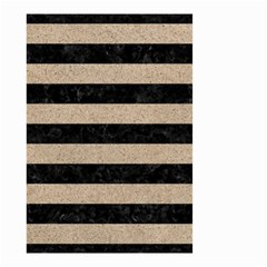 Stripes2 Black Marble & Sand Small Garden Flag (two Sides)