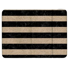 Stripes2 Black Marble & Sand Samsung Galaxy Tab 7  P1000 Flip Case