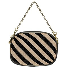 Stripes3 Black Marble & Sand Chain Purses (two Sides)