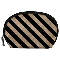 Stripes3 Black Marble & Sand Accessory Pouches (large)