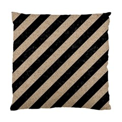 Stripes3 Black Marble & Sand (r) Standard Cushion Case (two Sides)