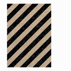 Stripes3 Black Marble & Sand (r) Small Garden Flag (two Sides)
