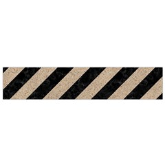 Stripes3 Black Marble & Sand (r) Small Velour Scarf