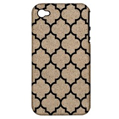 Tile1 Black Marble & Sand Apple Iphone 4/4s Hardshell Case (pc+silicone)
