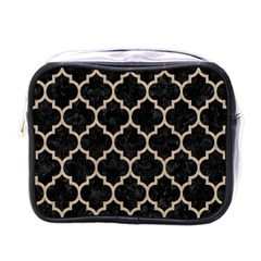 Tile1 Black Marble & Sand (r) Mini Toiletries Bags