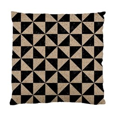 Triangle1 Black Marble & Sand Standard Cushion Case (one Side)