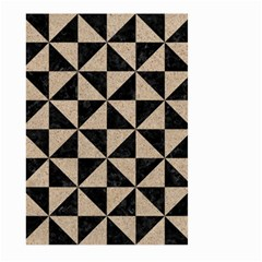 Triangle1 Black Marble & Sand Large Garden Flag (two Sides)