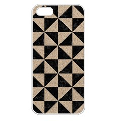 Triangle1 Black Marble & Sand Apple Iphone 5 Seamless Case (white)