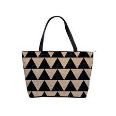 Triangle2 Black Marble & Sand Shoulder Handbags