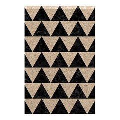 Triangle2 Black Marble & Sand Shower Curtain 48  X 72  (small)