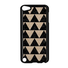 Triangle2 Black Marble & Sand Apple Ipod Touch 5 Case (black)