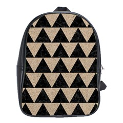 Triangle2 Black Marble & Sand School Bag (xl)