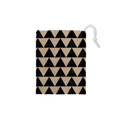 Triangle2 Black Marble & Sand Drawstring Pouches (xs)