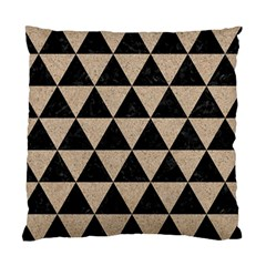 Triangle3 Black Marble & Sand Standard Cushion Case (two Sides)