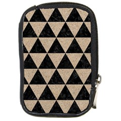Triangle3 Black Marble & Sand Compact Camera Cases