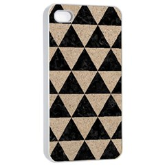 Triangle3 Black Marble & Sand Apple Iphone 4/4s Seamless Case (white)