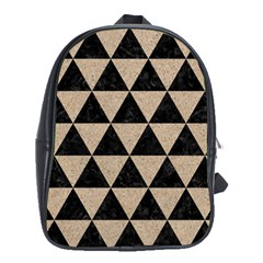 Triangle3 Black Marble & Sand School Bag (xl)