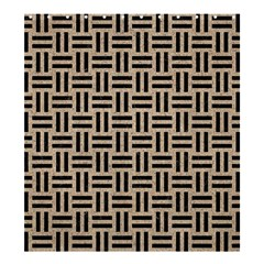 Woven1 Black Marble & Sand Shower Curtain 66  X 72  (large)