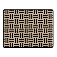 Woven1 Black Marble & Sand Fleece Blanket (small)