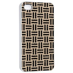 Woven1 Black Marble & Sand Apple Iphone 4/4s Seamless Case (white)