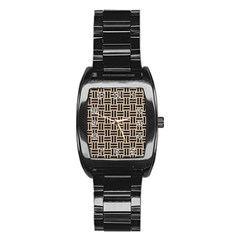 Woven1 Black Marble & Sand Stainless Steel Barrel Watch
