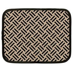 Woven2 Black Marble & Sand Netbook Case (xl)
