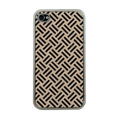 Woven2 Black Marble & Sand Apple Iphone 4 Case (clear)