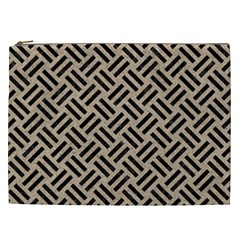 Woven2 Black Marble & Sand Cosmetic Bag (xxl)