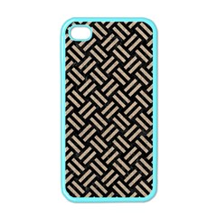 Woven2 Black Marble & Sand (r) Apple Iphone 4 Case (color)